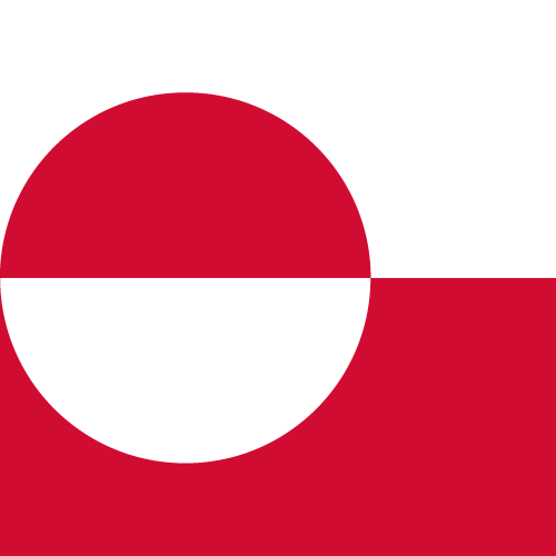 Vector flag of Greenland - Square