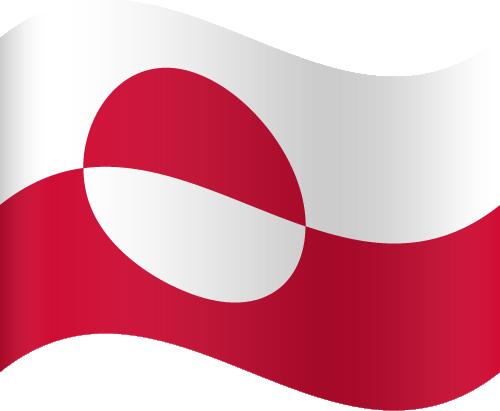 Vector flag of Greenland - Waving