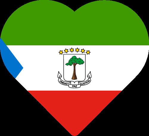 Vector flag of Equatorial Guinea - Heart