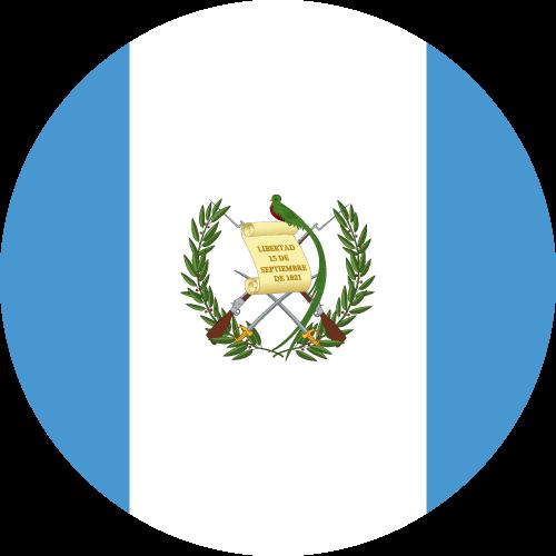 Vector flag of Guatemala - Circle