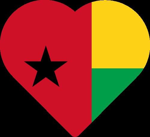 Vector flag of Guinea-Bissau - Heart