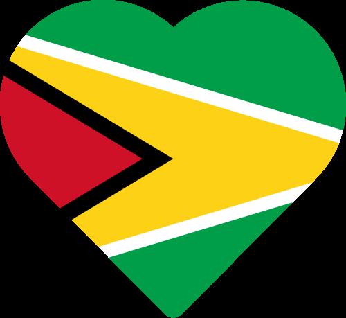 Vector flag of Guyana - Heart
