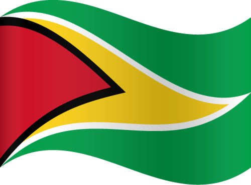 Vector flag of Guyana - Waving