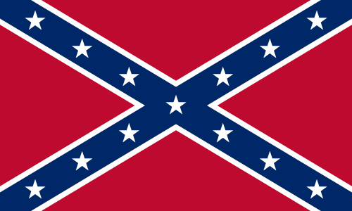 Vector flag of the Confederate Rebel Flag