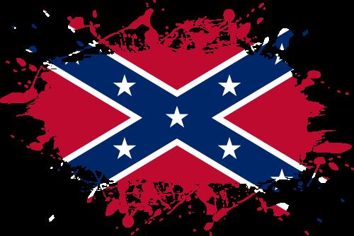 Vector flag of the Confederate Rebel Flag - Ink Splat