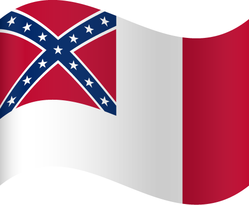 Vector flag of the Confederate States of America - Waving