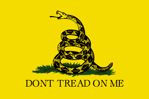 Vector flag of the Gadsden Flag