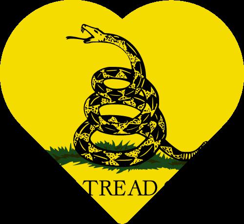 Vector flag of the Gadsden Flag - Heart