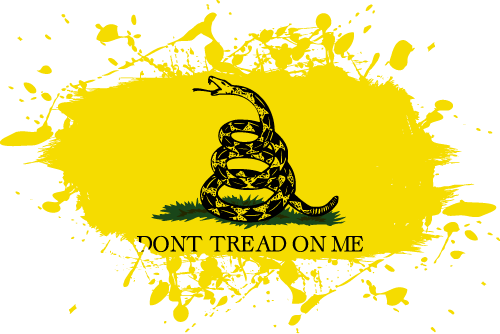 Vector flag of the Gadsden Flag - Ink Splat