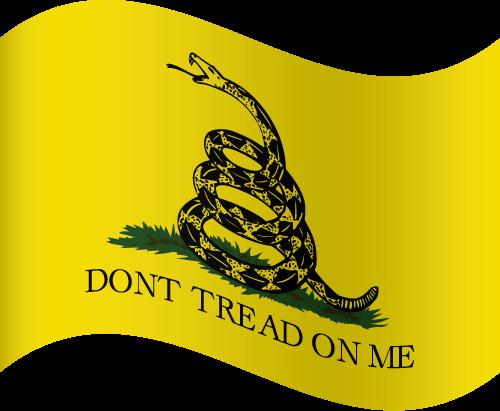 Vector flag of the Gadsden Flag - Waving