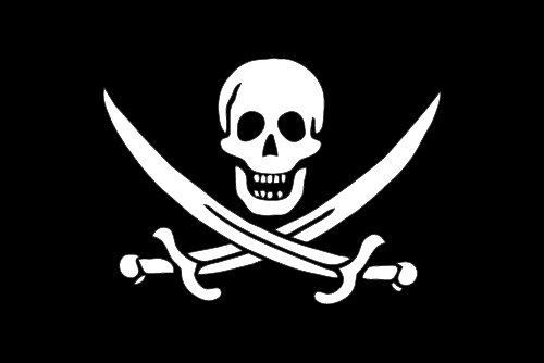 Vector flag of Jack Rackham (Pirate Flag)