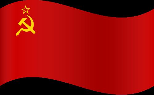 Vector flag of the Soviet Union - Waving
