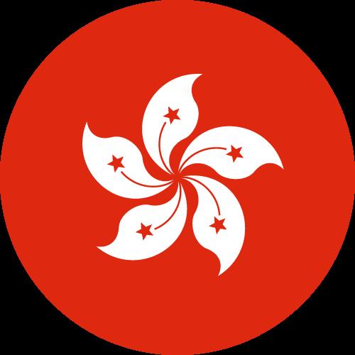 Vector flag of Hong Kong - Circle