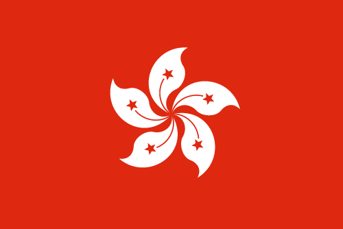 Vector flag of Hong Kong