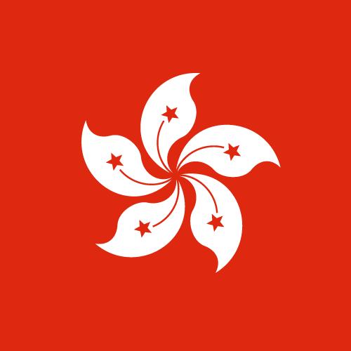 Vector flag of Hong Kong - Square