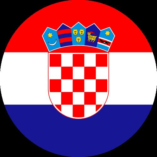 Vector flag of Croatia - Circle