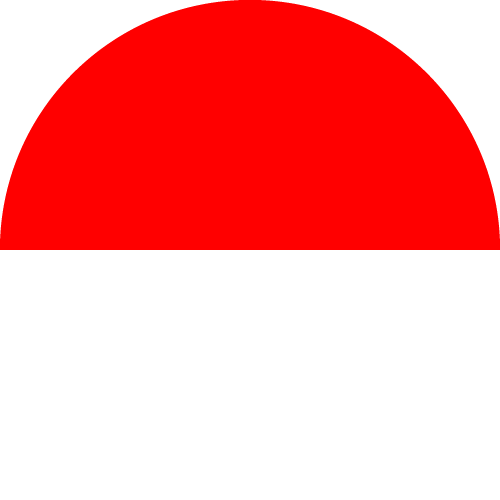 Vector flag of Indonesia - Circle
