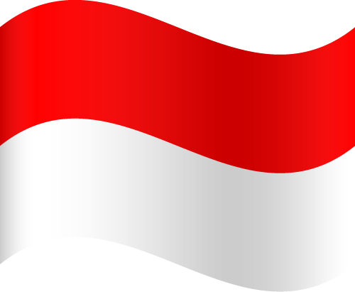 Vector flag of Indonesia - Waving
