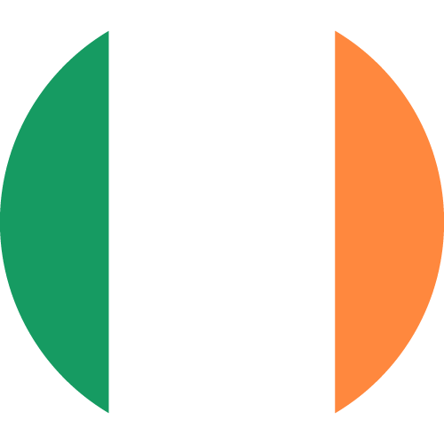 Vector flag of Ireland - Circle