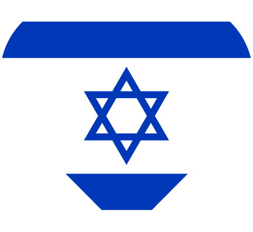 Vector flag of Israel - Heart
