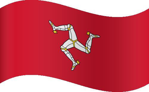 Vector flag of the Isle of Man - Waving