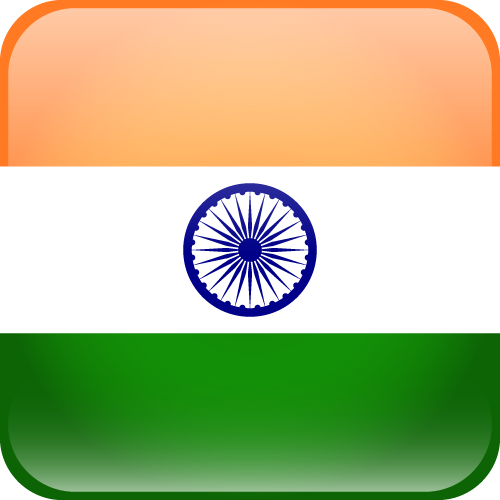Vector flag of India - Cube