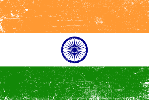 Vector flag of India - Grunge