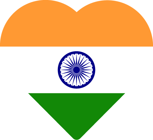 Vector flag of India - Heart
