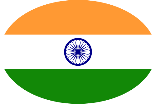 Vector flag of India - Oval