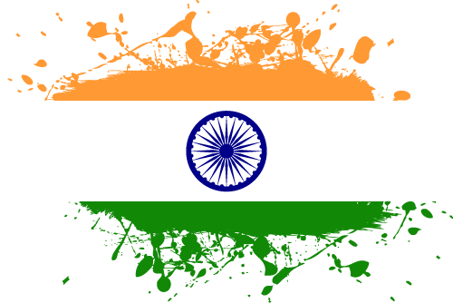 Vector flag of India - Ink Splat