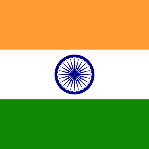 Vector flag of India - Square