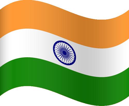 Vector flag of India - Waving
