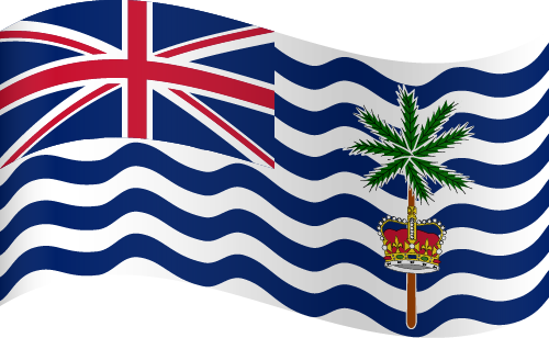 Vector flag of the British Indian Ocean Territory - Waving