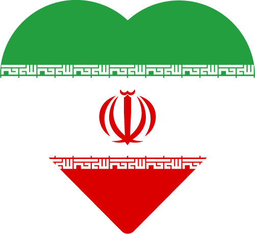 Vector flag of Iran - Heart