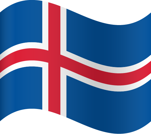 Vector flag of Iceland - Waving