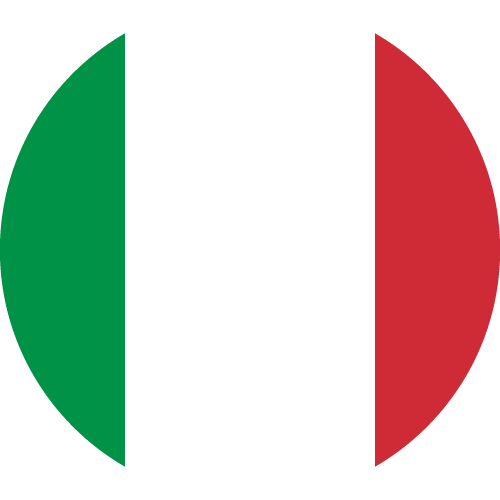 Vector flag of Italy - Circle