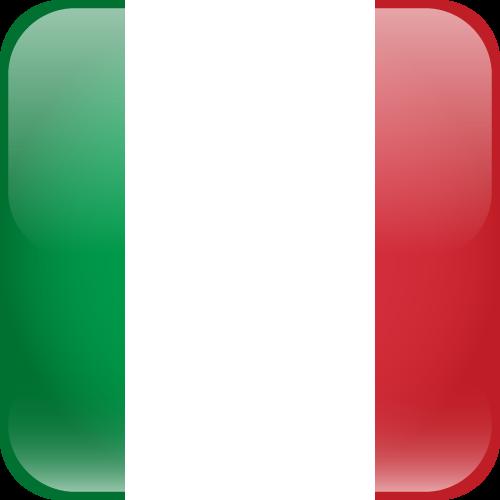 Vector flag of Italy - Cube