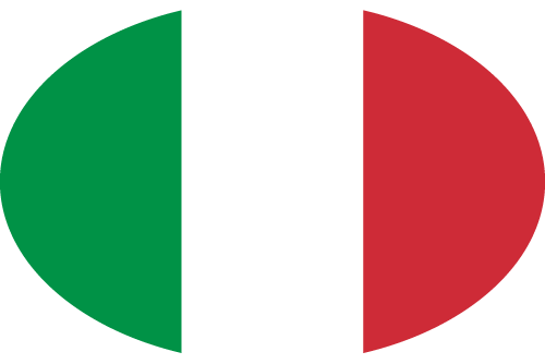 Vector flag of Italy - Oval