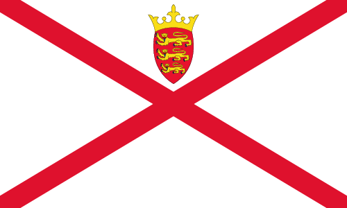 Vector flag of Jersey