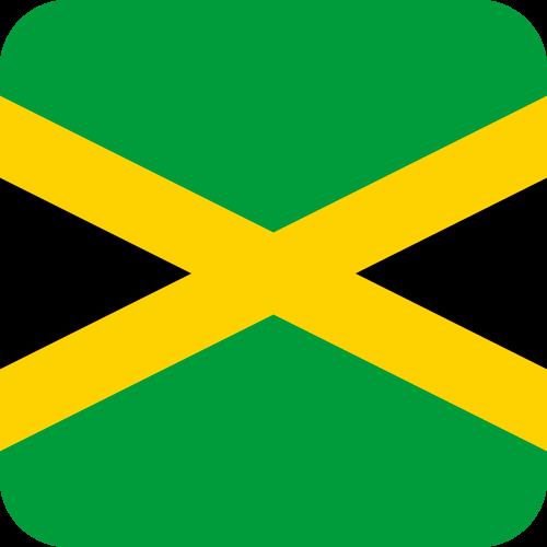 Vector flag of Jamaica - Button