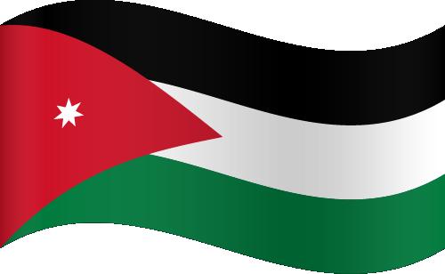 Vector flag of Jordan - Waving