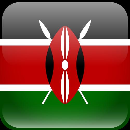 Vector flag of Kenya - Cube