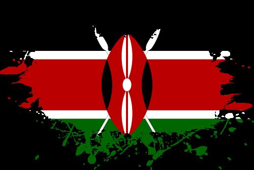 Vector flag of Kenya - Ink Splat