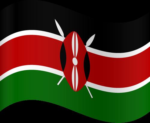 Vector flag of Kenya - Waving