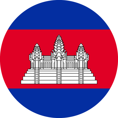 Vector flag of Cambodia - Circle
