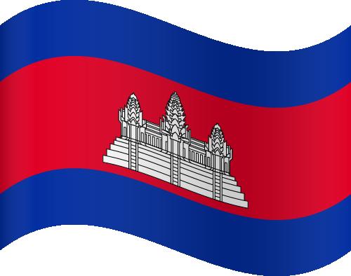 Vector flag of Cambodia - Waving