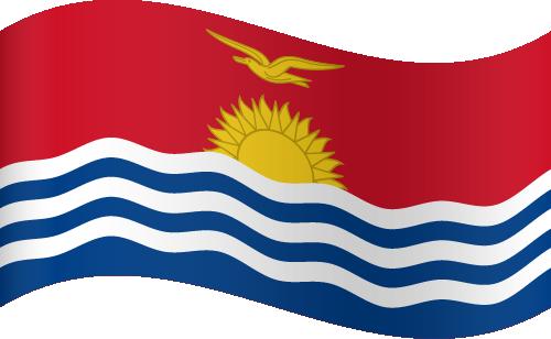 Vector flag of Kiribati - Waving