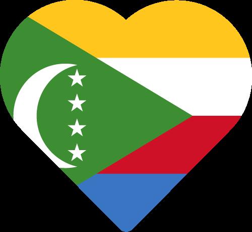 Vector flag of Comoros - Heart