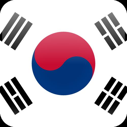 Vector flag of South Korea - Cube