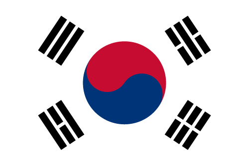 Vector flag of South Korea - Oval